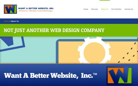 Screenshot of About Page wantabetterwebsite.com - Want a Better Website - a Web Design Company - captured March 3, 2016