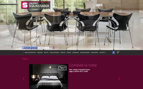 Screenshot of Home Page squassabia.com - Gruppo Squassabia - captured Oct. 1, 2014