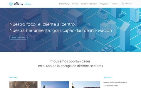 Screenshot of Home Page efizity.com - efizity | Energía Inteligente - captured May 9, 2017