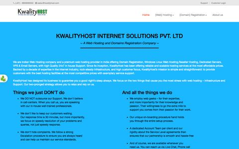 Screenshot of About Page kwalityhost.com - About Kwalityhost - Hosting provider in india - captured Sept. 30, 2014