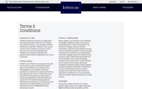 Screenshot of Terms Page institchu.co.uk - Terms & Conditions - captured Oct. 3, 2014