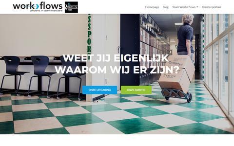 Screenshot of Home Page work-flows.nl - Work>Flows - captured Nov. 12, 2017