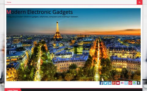Screenshot of Home Page modern-electronic-gadgets.blogspot.com - Modern Electronic Gadgets - captured Sept. 19, 2014