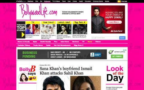 Screenshot of Press Page bollywoodlife.com - News | Get Latest Bollywood News, Movie Reviews and Trailers, Videos and Photos at Bollywoodlife.com - captured Oct. 29, 2014