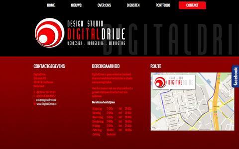 Screenshot of Contact Page digitaldrive.nl - DigitalDrive Contact - captured Sept. 30, 2014