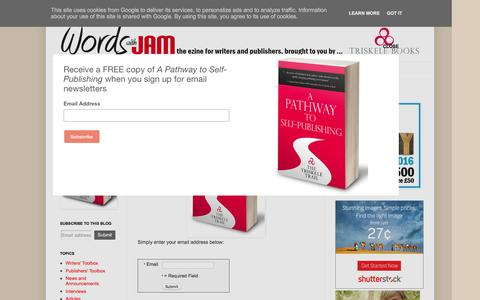 Screenshot of Signup Page wordswithjam.co.uk - Words with JAM: Sign up to our email newsletter and receive a FREE copy of A Pathway to Self-Publishing by Triskele Books - captured Nov. 14, 2016