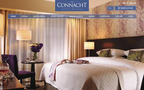 Screenshot of Home Page theconnacht.ie - The Connacht Hotel Galway - Official Hotel Website - captured Sept. 1, 2015