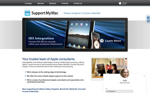 SupportMyMac | Business Mac/iOS Support and Consulting in Ottawa, Kingston, Toronto and Montreal, Quebec