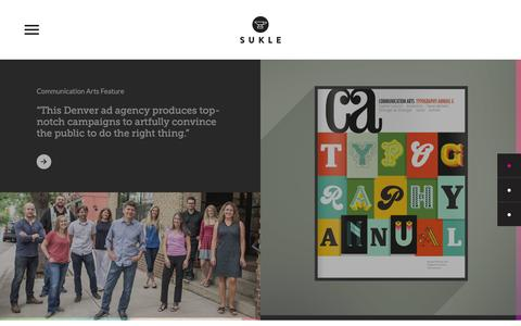 Screenshot of Home Page sukle.com - Sukle Advertising & Design | Home | Sukle - captured Feb. 16, 2016