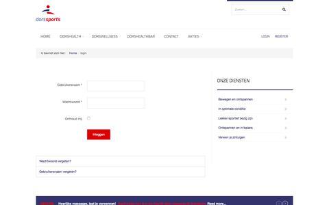 Screenshot of Login Page dorssports.nl - login - Dorssports de All-in Healthclub van Heiloo! - captured June 5, 2017