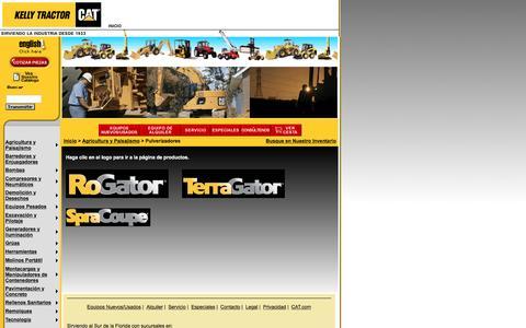 Screenshot of Landing Page kellytractor.com - Pulverizadores y Fumigadores Agrícolas en Kelly Tractor - captured Aug. 12, 2016