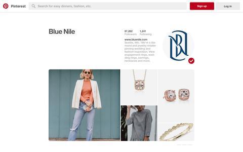 Screenshot of Pinterest Page pinterest.com - Blue Nile (BlueNile) on Pinterest - captured Oct. 1, 2017