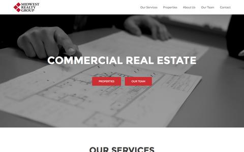 Screenshot of Home Page midwestrealty.com - Midwest Realty Group LLC - A commercial real estate company, offering a full range of real estate services to our clients. - captured Nov. 28, 2016