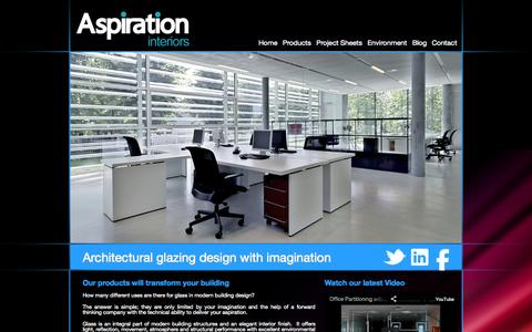 Screenshot of Home Page aspirationinteriors.co.uk - Aspiration Interiors - captured Sept. 30, 2014