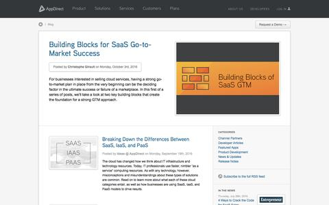 Screenshot of Blog appdirect.com - Blogs on White Label Cloud Marketplaces & Cloud Applications - AppDirect - AppDirect - captured Oct. 5, 2016