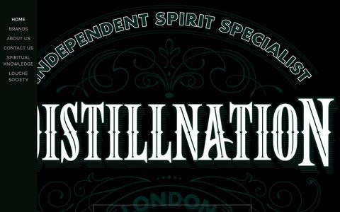 Screenshot of Home Page distillnation.com - DISTILLNATION Independent Spirits Importer & Distributor - captured Jan. 8, 2016