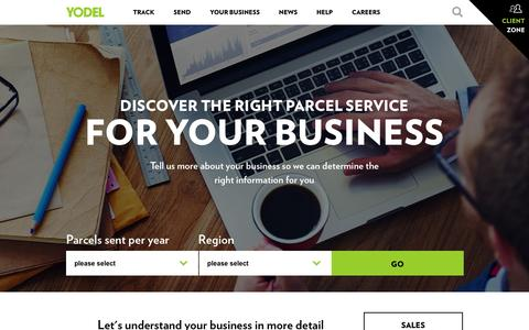 Yodel Business Parcel Delivery   Business Services   Yodel