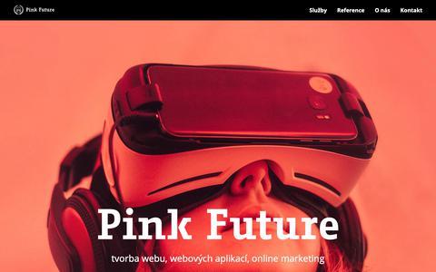 Screenshot of Home Page pink-future.cz - Tvorba webu a online marketing   Pink future - captured Nov. 4, 2018