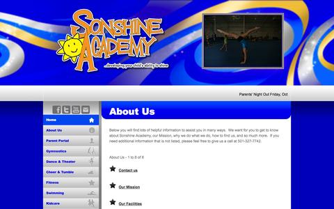 Screenshot of About Page sonshineacademy.com - Sonshine Academy - About Us - captured Oct. 9, 2014