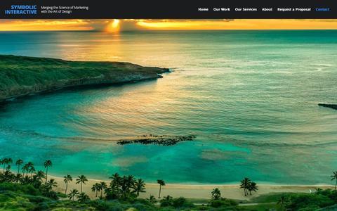 Screenshot of Contact Page symbolicinteractive.com - Contact | Symbolic Interactive - captured Dec. 6, 2016
