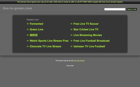 Screenshot of Home Page live-in-green.com - Live-In-Green.com - captured June 8, 2016