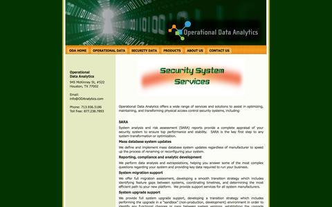 Screenshot of Services Page odanalytics.com - Services - captured Oct. 26, 2014