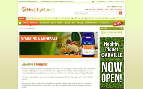 Screenshot of Maps & Directions Page healthyplanetcanada.com - Vitamins and Minerals | Buy Health Nutrients | Healthy Planet - captured Dec. 9, 2015