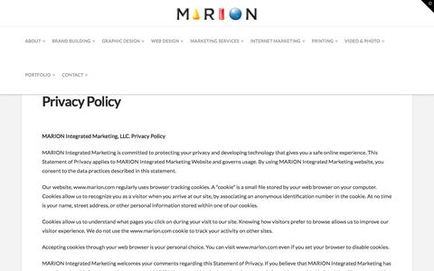 Privacy Policy - Marion Integrated Marketing Houston
