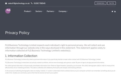 Screenshot of Privacy Page flg360.co.uk - FLG - Privacy Policy - captured Jan. 18, 2016