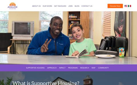 Screenshot of Maps & Directions Page avalonhousing.org - Our Work - Avalon Housing - captured Oct. 4, 2018