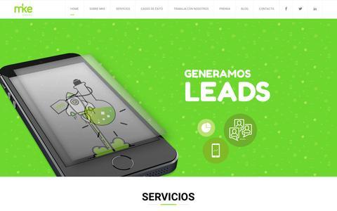 Screenshot of Home Page mkedigital.com.ar - Agencia de Marketing Digital - MKE Digital - captured Nov. 18, 2016