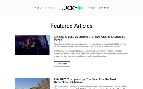 Screenshot of Press Page lucky8.tv - Press — Lucky8 - captured Sept. 29, 2018