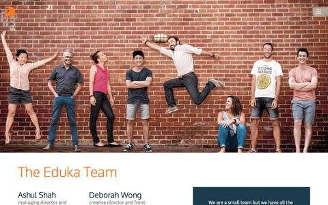 Screenshot of Team Page eduka.com - Eduka — Our Team - captured July 11, 2016