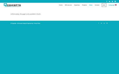 Screenshot of Press Page qcde.eu - News – QConcepts Design & Engineering - captured Sept. 25, 2018