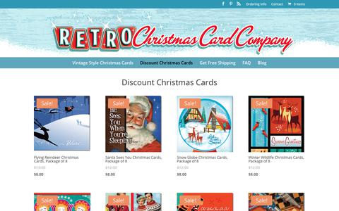 Discount Christmas Cards - Retro Christmas Cards