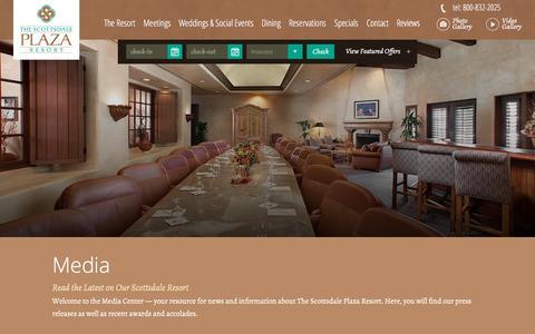 Screenshot of Press Page scottsdaleplaza.com - Media | The Scottsdale Plaza Resort | Arizona - captured Feb. 15, 2016
