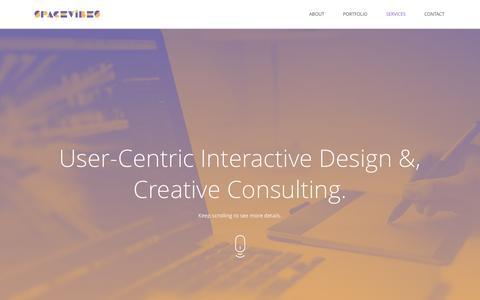 Screenshot of Services Page spacevibes.com - Toronto Web UI UX Designer, Motion Graphics Designer - captured Dec. 6, 2016