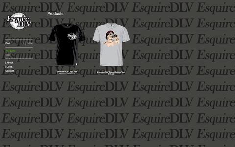 Screenshot of Products Page bigcartel.com - EsquireDLV — Products - captured Sept. 19, 2014