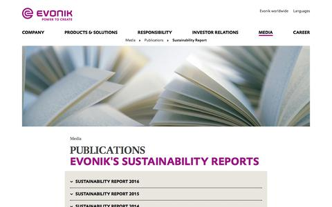 Sustainability Reports - Corporate Responsibility - Evonik Industries AG