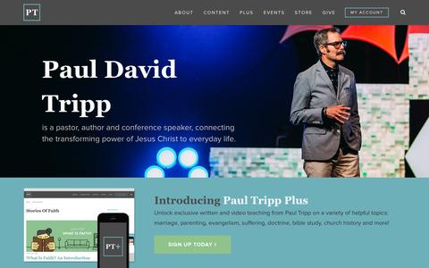 Screenshot of Home Page paultripp.com - PaulTripp.com | Pastor. Author. Conference Speaker. - captured Nov. 12, 2015