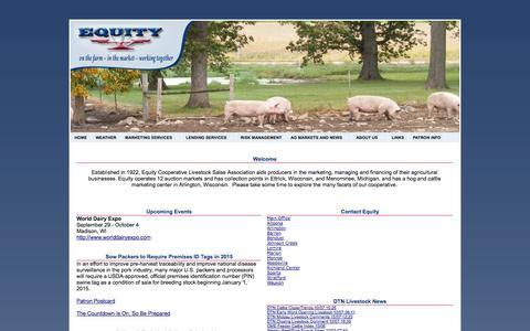 Screenshot of Home Page equitycoop.com - Equity Cooperative - captured Oct. 8, 2014
