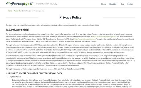 Privacy Policy | Perceptyx - Know Now