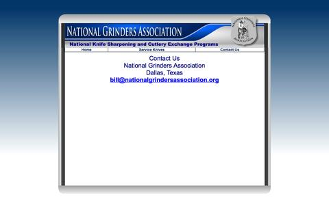 Screenshot of Contact Page nationalgrindersassociation.org captured Oct. 26, 2014