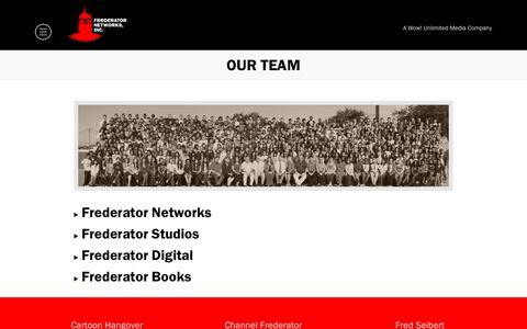 Screenshot of Team Page frederator.com - Our Team - Frederator - captured Nov. 11, 2018