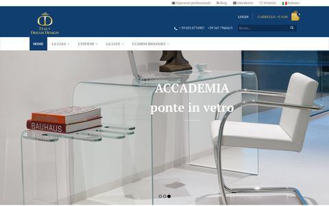 Screenshot of Home Page italydreamdesign.com - Design su misura 100% made in Italy - captured Feb. 11, 2016