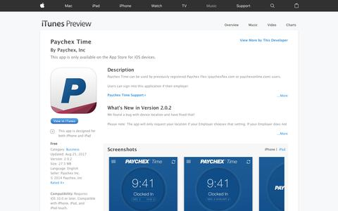 Paychex Time on the App Store
