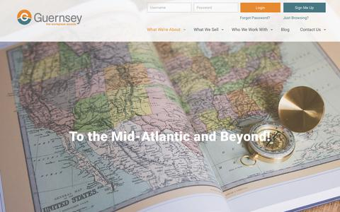 Screenshot of Locations Page buyguernsey.com - Proudly Serving The Entire Mid-Atlantic Region: Guernsey Inc. - captured Sept. 30, 2018
