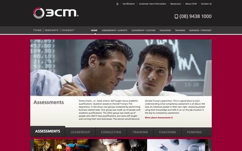 Screenshot of Home Page 3cm.com.au - 3CM School of Management - Registered Training Organisation, Western Australia - 3CM® School of Management - captured Oct. 9, 2014