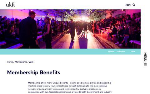 Screenshot of Signup Page ukft.org - Join - UKFT - captured Nov. 11, 2018