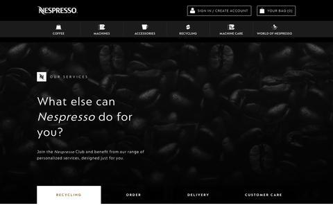 Services | Nespresso USA